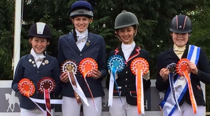 Selby Junior Dressage team take 6th place at the KBIS Novice Dressage Championships at Keysoe on Sunday 10th April 2016.