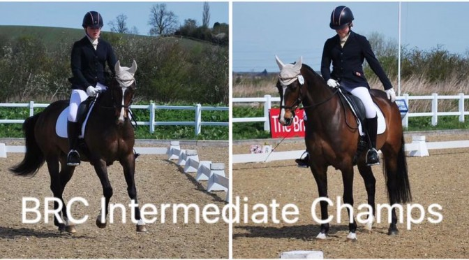 Selby Junior Rider Lucy Williams at the BRC Intermediate Dressage Championships 2016